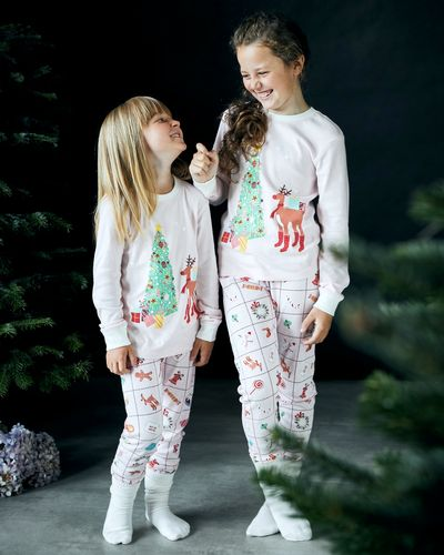 Leigh Tucker Willow Cotton Rib Candy Christmas Pyjamas (1-14 yrs)