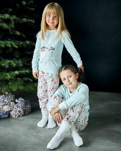 Leigh Tucker Willow Cotton Rib Dancer Christmas Pyjamas (1-14 yrs)