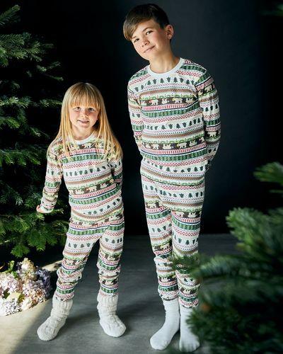 Leigh Tucker Willow Cotton Rib Winter Kids Christmas Pyjamas (1-14 years)