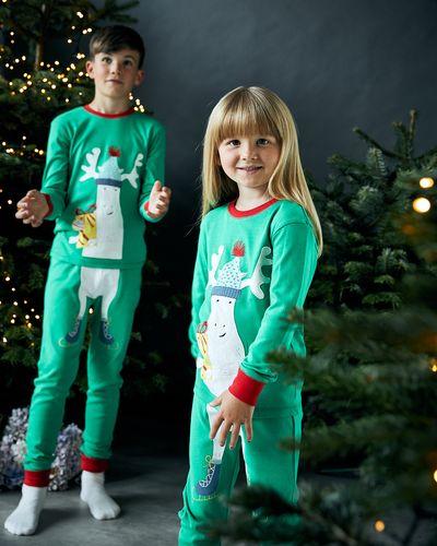 Leigh Tucker Willow Cotton Rib Moose Christmas Pyjamas (1-14 years)