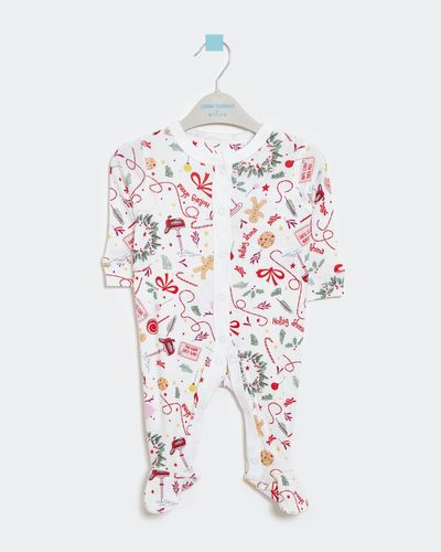 Leigh Tucker Willow Cotton Rib Bell Christmas Sleepsuit (0-23 months)