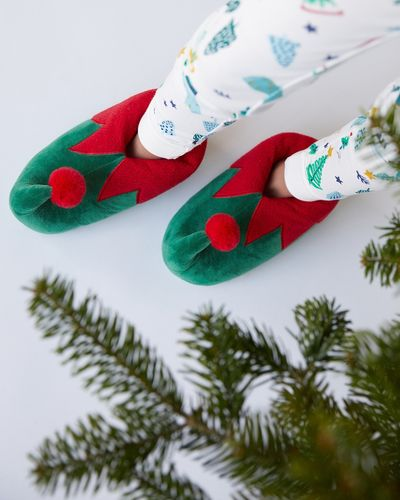 Leigh Tucker Willow Santa Slippers