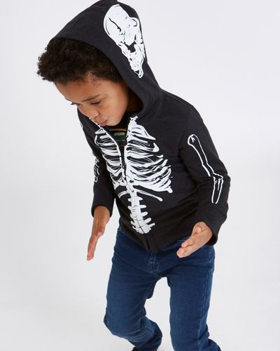 Leigh Tucker Willow Wesley Glow-In-The-Dark Skeleton Hoodie thumbnail