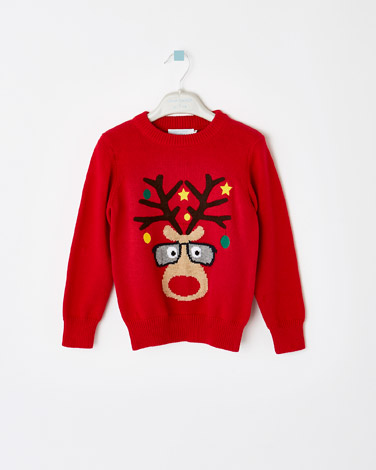 red Leigh Tucker Willow Nicky Christmas Jumper