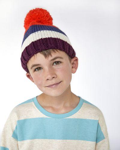 Leigh Tucker Willow Bora Multi Stripe Hat