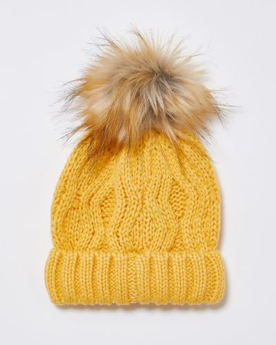 Leigh Tucker Willow Brooke Cable Hat With Pom Pom