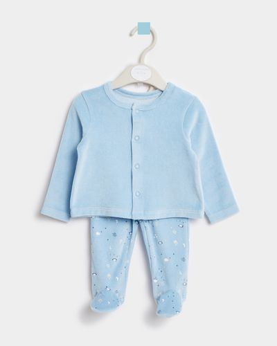 Leigh Tucker Willow Joey Baby Top And Bottom Velour Set (Newborn - 23 months) thumbnail