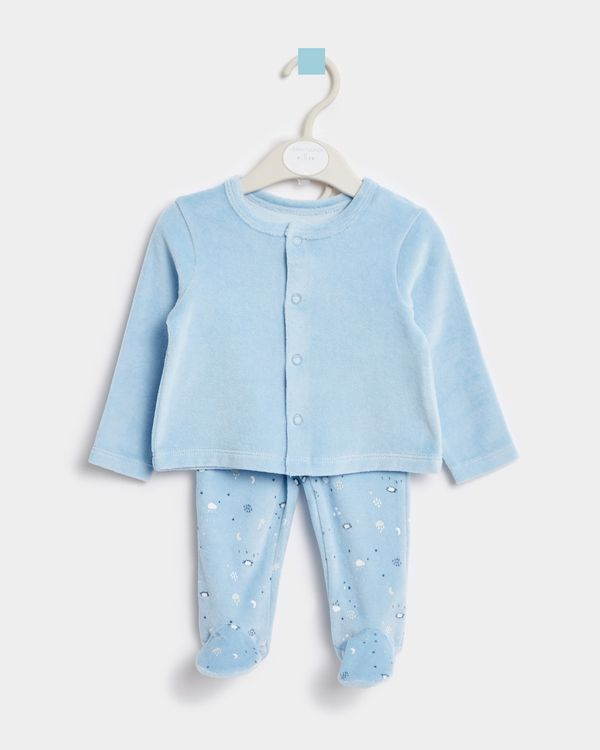 Leigh Tucker Willow Joey Baby Top And Bottom Velour Set (Newborn - 23 months)