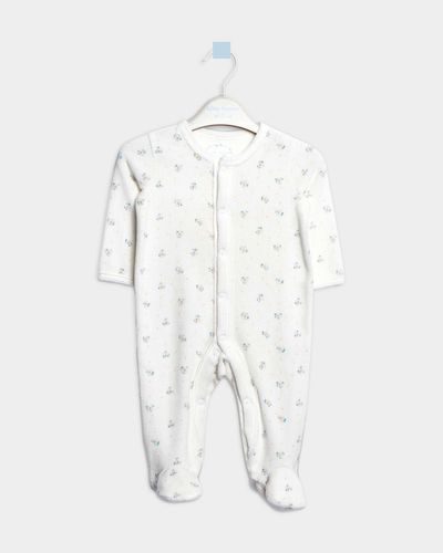Leigh Tucker Willow Brenda Velour Sleepsuit (Newborn - 23 months) thumbnail
