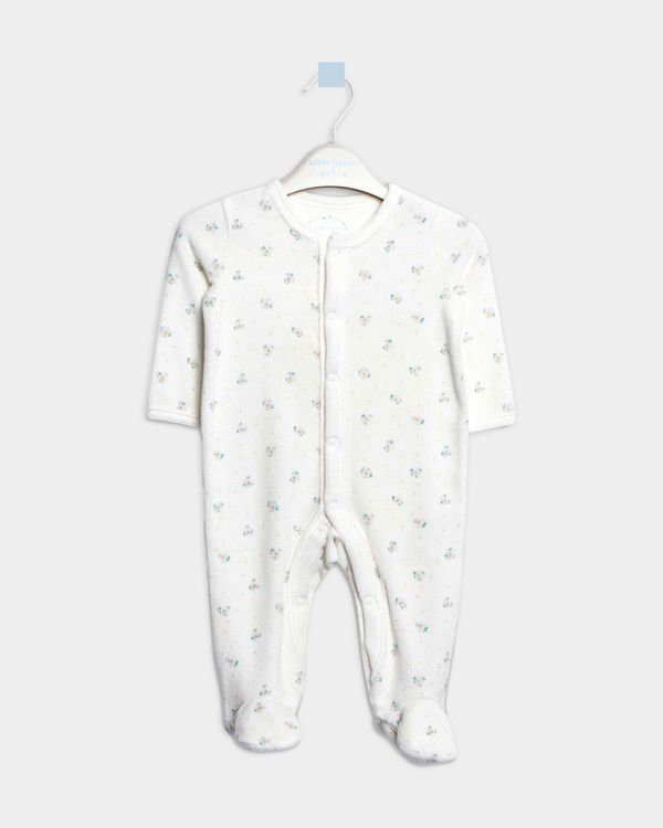 Leigh Tucker Willow Brenda Velour Sleepsuit (Newborn - 23 months)