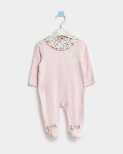 Leigh Tucker Willow Beth Velour Sleepsuit (Newborn-23 months) thumbnail