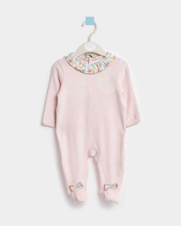 Leigh Tucker Willow Beth Velour Sleepsuit (Newborn-23 months)