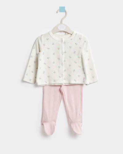 Leigh Tucker Willow Blair Velour and Cotton Baby Set (Newborn - 23 months)