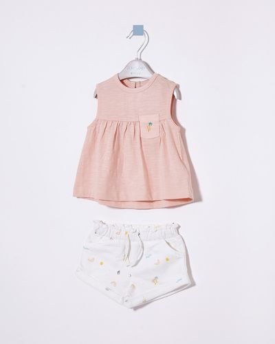 Leigh Tucker Willow Dixie Baby T-Shirt And Short Set
