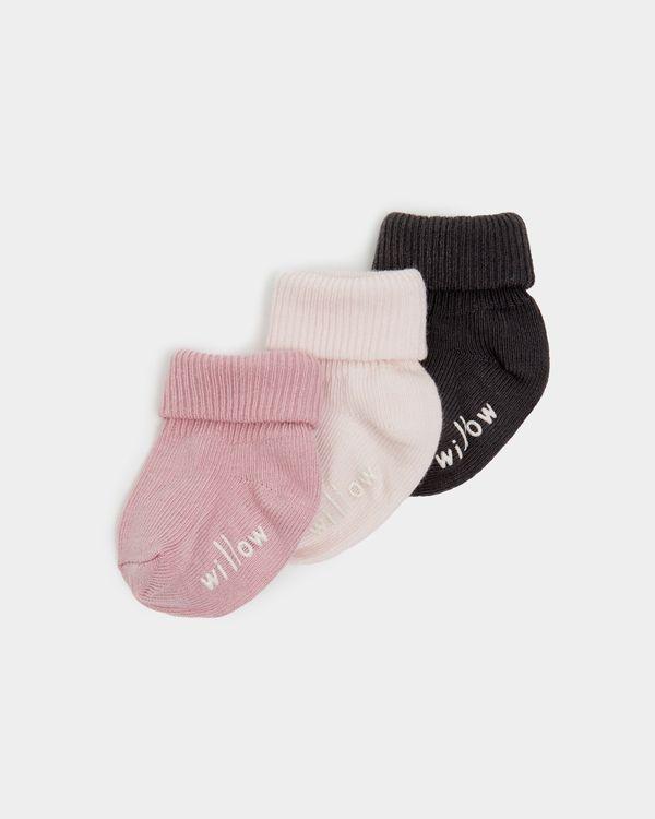 Leigh Tucker Willow Ella Baby Sock - Pack Of 3