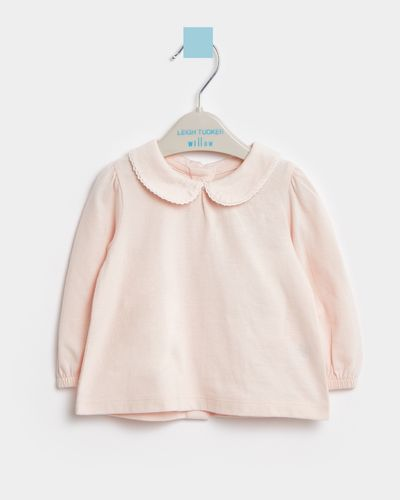 Leigh Tucker Willow Pink Sadie Cotton Baby Top (0 months - 3 years)