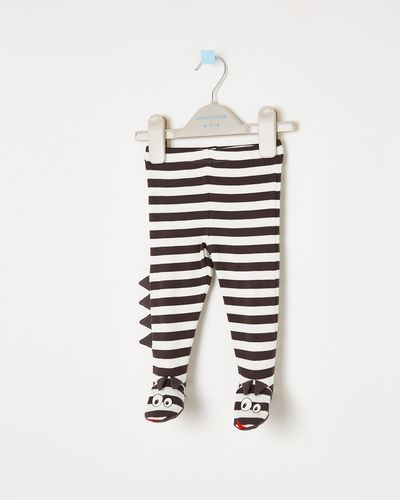 Leigh Tucker Willow Dave Baby Pants With Feet thumbnail