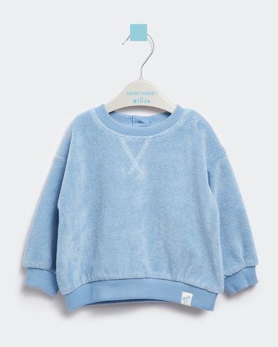 Leigh Tucker Willow Gray Baby Towelling Sweatshirt (0 months - 3 years)