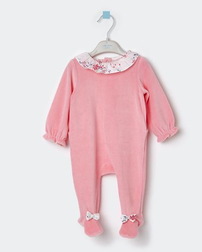 Leigh Tucker Willow Harper Velour Sleepsuit