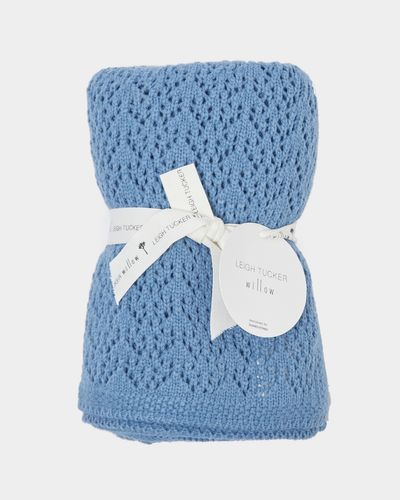 Leigh Tucker Willow Blue Broderie Blanket