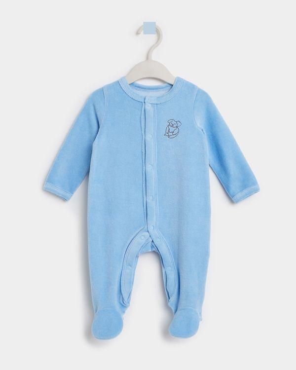 Leigh Tucker Willow Koala Velour Sleepsuit (Newborn - 23 months)