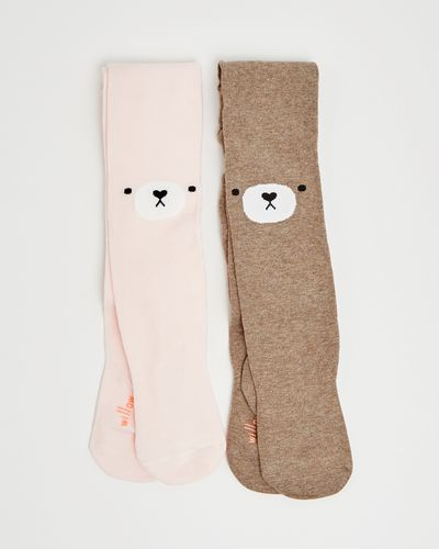 Leigh Tucker Willow Sarah Pack Bear Face Tights - Pack Of 2