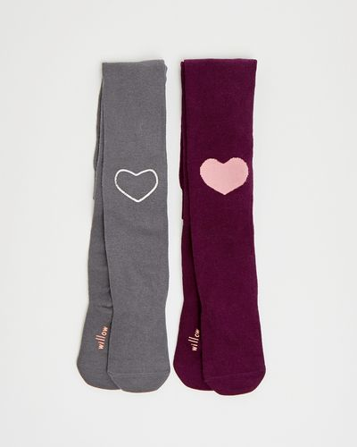 Leigh Tucker Willow Olma Heart Tights - Pack Of 2