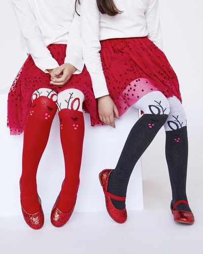 Leigh Tucker Willow Nova Reindeer Tights - Pack Of 2