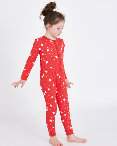 red Leigh Tucker Willow Holly All-Over Print Onesie