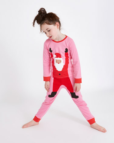 pink Leigh Tucker Willow Chrissy Santa Pyjamas