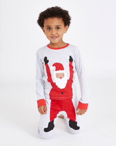 grey-marl Leigh Tucker Willow Chris Santa Pyjamas