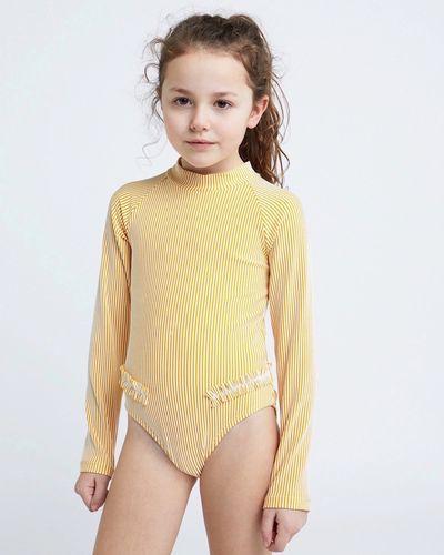 Leigh Tucker Willow  Iris Girls Long-Sleeved Swimsuit