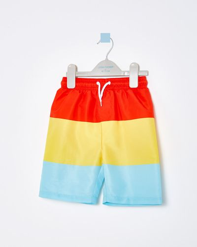 Leigh Tucker Neal Colour Block Stripe Short