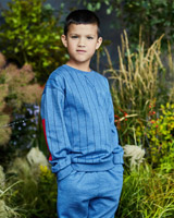 blue Leigh Tucker Willow River Crew Neck Jumper