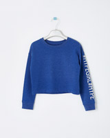 blue Leigh Tucker Willow Brie Dance Crop Jumper
