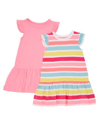 Drop Waist Jersey Dress - Pack Of 2 (6 months - 4 years)