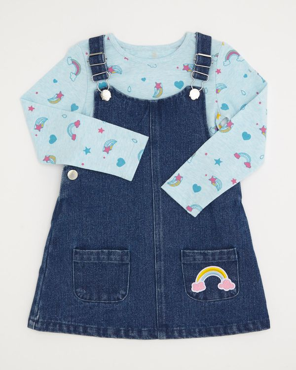 Denim Badge Pinny And Top (6 months-4 years)