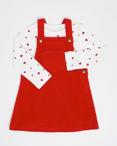 Corduroy Pinny Dress And T-Shirt (6 months-4 years)