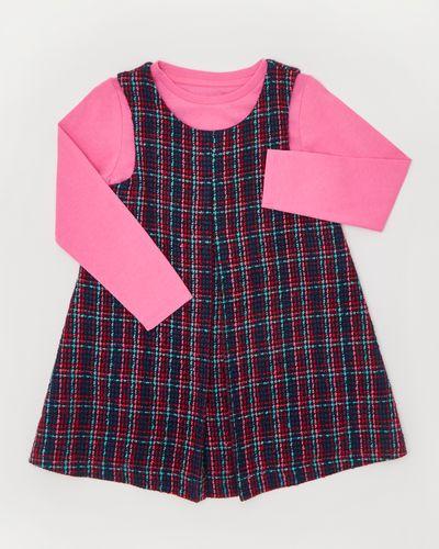 Girls Tweed Pinny And Top Set (12 months-4 years)