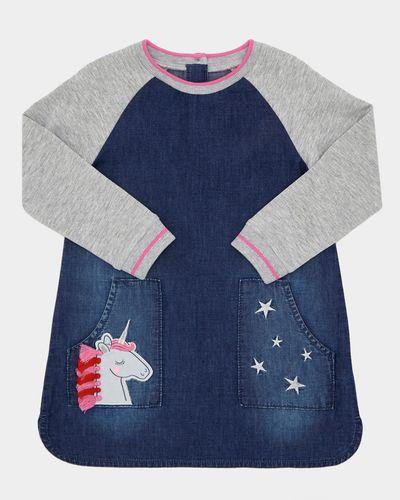 Unicorn Denim Dress (6 months-4 years)