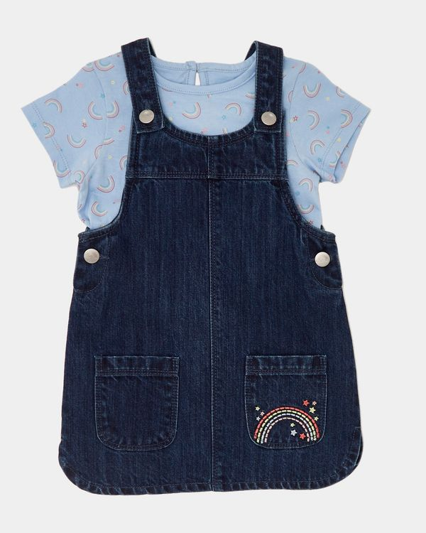 Denim Pinny And T-Shirt Set (6 months-4 years)