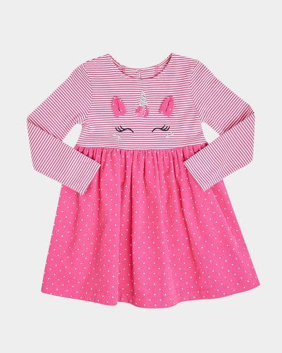 Unicorn Cord Mix Dress (0 months-4 years)