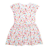 pink Toddler Bird Print Sun Dress