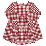 burgundy Toddler Check Dress