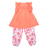 coral Toddler Top And Harem Pant Set