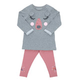 grey-marl Toddler Bear Sweater Dress And Legging
