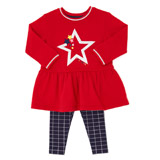 red Toddler Top and Leggings Set