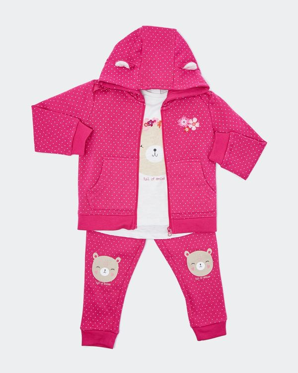 Bear Three-Piece Set (Newborn-4 years)
