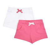 pink Fleece Shorts - Pack Of 2