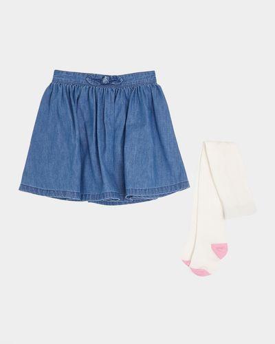 Bow Denim Skirt Set (6 months-4 years)